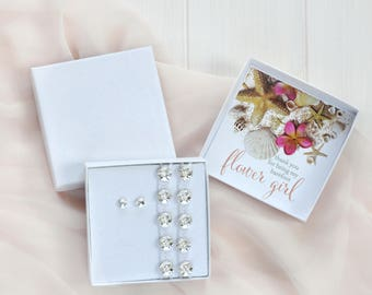 Beach Wedding Flower Girl Gift Set- Bridesmaid Gift Box- Barefoot Sandals Wedding- Thank you for being my Barefoot Bridesmaid- Wedding Favor