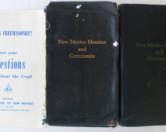 vintage books, Freemasonry, New Mexico Monitor and Ceremonies, 1944, 1951, Masonic, from Diz Has Neat Stuff