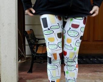 Beer Adult Size Leggings - Craft Brew, Home Brew, IPA, Drink, Festival, Brewery