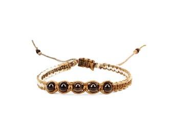 Smoky Quartz Bracelet, Gemstone Bracelet, Smoky Quartz Jewelry, Grounding bracelet, Yoga Bracelet, Chakra Bracelet, Root Chakra Bracelet