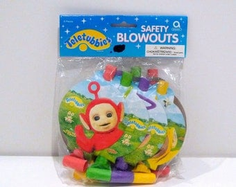 Teletubbies Blowouts / Party Hats / Party Favor Bags Your Choice Safety Blowouts Loot Bags Birthday Retro 1990s Party Original Packaging