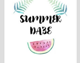 Printable Summer Daze wall art/decor