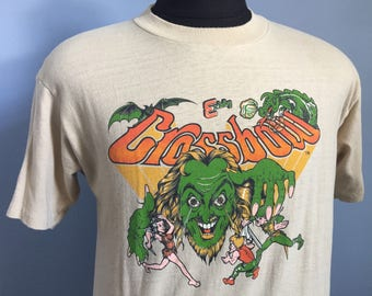 80s Vintage Crossbow 1983 Exidy arcade video game promo T-Shirt - LARGE