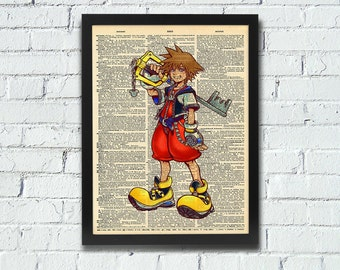 Kingdom Hearts Sora Dictionary Art