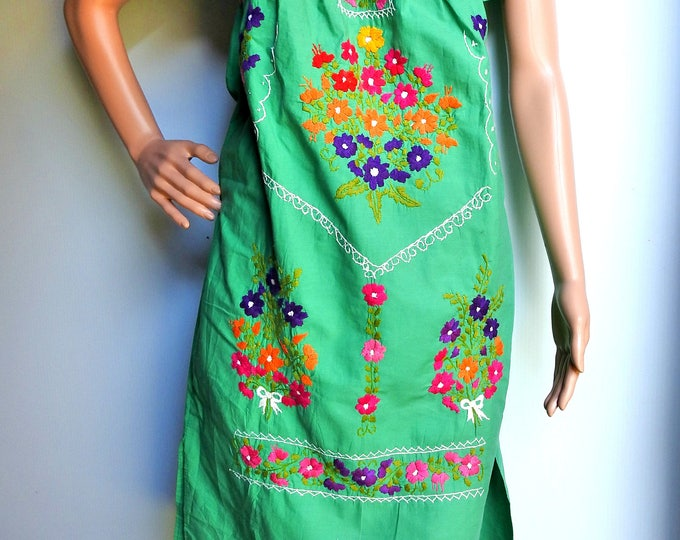 GREEN MEXICAN DRESS