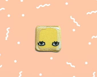"""Pat of Butter Square 1.5"""" Iron On Patch"""