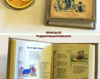 1020# Lachende Kinder - German childerens book - Doll house miniature in scale 1/12