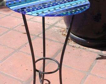 Custom Garden Decoration Fused Glass Mosaic Design Custom Table Tops