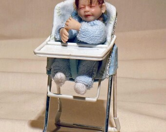 1/12th scale miniature dolls house baby doll one of a kind