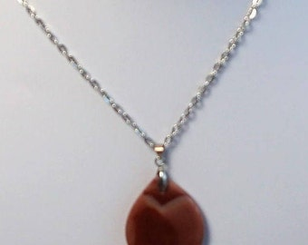 Carnelian Agate Pendant Necklace