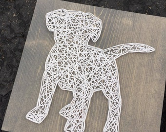 MADE TO ORDER String Art Puppy Sign
