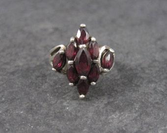 Vintage Sterling Rhodolite Garnet Ring Size 6.25