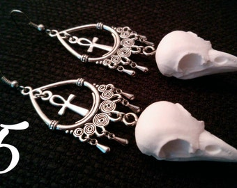Crowskull earrings