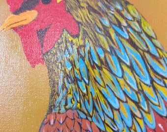 Pauleen. Chicken Art. Original Painting.