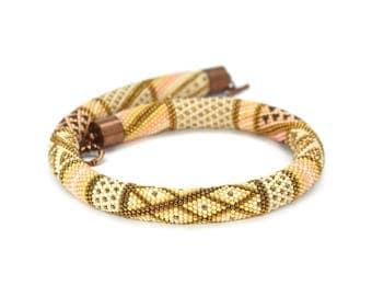 Beaded-crochet-jewelry Bead-crochet-necklace Seed bead necklace Bead-crochet-rope Choker necklace Fashion jewelry Beadwork necklace Gift
