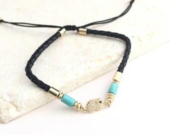 Elephant Bracelet,Crystal Elephant Bracelet,Twisted Knot Bracelet,Draw String Bracelet,Leather Bracelet,Black Bracelet,Charm Bracelet