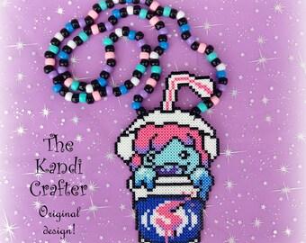 Slushii Kandi Mini Perler Beads Art Beaded Necklace Rave EDM
