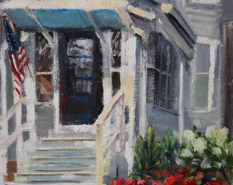 Landscape Painting, Oil painting, Original Paintings, Plein Air, Hydrangeas, Original Painting, Oil Paintings, Front Porch, Art, Sue Whitney