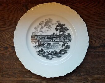 St Louis Riverfront- Wedgewood- Vintage Collectible Plates- Ceramic- 1960's Decorative Plates- Stix Baer Fuller Bicentennial- Made in Engand