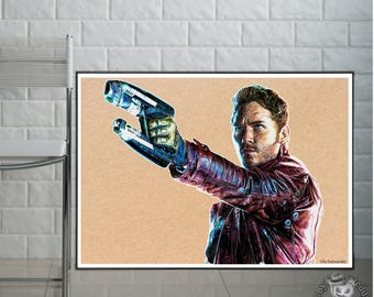 Starlord  from *Guardians of the Galaxy*  - Fine Art Print - A4/A3