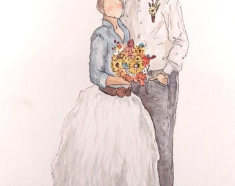 Custom Watercolor Potrait