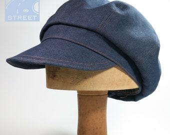 Denim newsboy cap baker boy peaked cap summer cap cotton cap cycling cap
