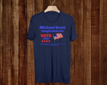 The Office Tv Show - Dunder Mifflin - Unisex - T-Shirt - 2020 Election - 2020 Campaign - Schrute Farms - Dwight - Michael Scott - Gifts