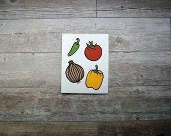 """Veggies Paper Cut Original Art - Hand Cut 8""""x10"""""""