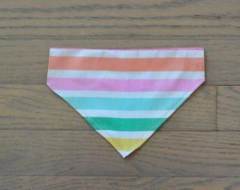 The Candy Shop bandana / dog bandana / cat bandana / pet bandana / over the collar / bowties / collar / puppy bandana