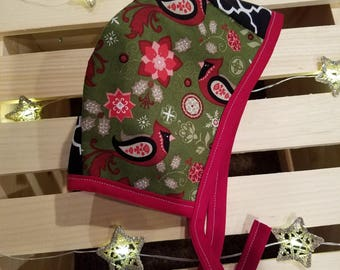17 Inch Reversible Christmas Bonnets