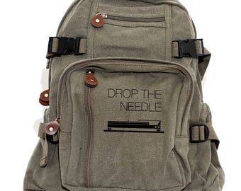 Drop the Needle - Canvas Backpack