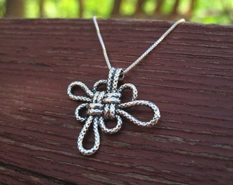 Infinity knot jewelry, sterling silver, nature celtic jewelry, bridesmaid, Knot, Rope, Promise, valentine's gift, Birthday Gift For Her