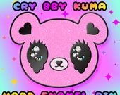 PRE-ORDER Cry Bby Kuma | Shojo Kawaii Black Nickel Plated Hard Enamel Pin