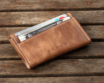 Birthday Gift for Men | Leather Wallet, Minimalist Wallet, Portemonnaie, Front Pocket Wallet