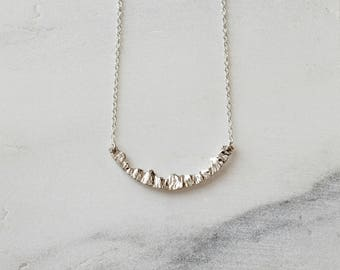 Mountain Necklace Silver Nature Necklace Travel Necklace Mountain Jewelry Inspirational Necklace