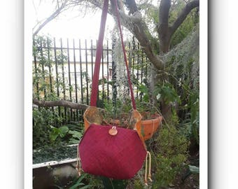 Red Over the Hip Sling Bag
