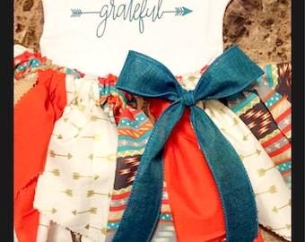 Grateful Arrow Fabric Tutu Outfit, Very full tutu skirt