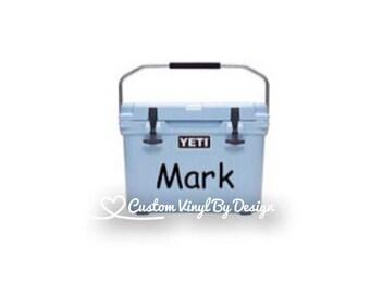 Yeti Cooler Monogram Decal | Yeti Cooler Decal | Yeti Cooler Sticker | Yeti Cooler Name Tag | Yeti Cooler Decal for Men | Ships Free