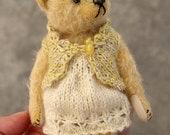 "Little Bun, Miniature 5 1/2"" Mohair Artist Teddy Bear from Aerlinn Bears"