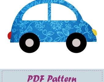 PDF Beetle Applique Pattern, Beetle Applique Template, Transport, DIY, Children, Instant Download Digital Pattern
