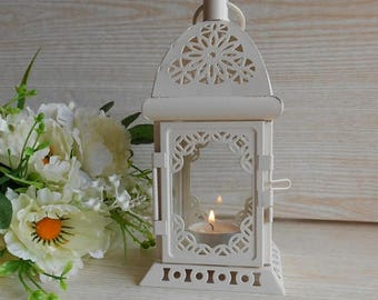 ON SALE Vintage Rustic Lantern, Moroccan Lantern,Rustic Candle Holder,Rustic Wedding Lighting