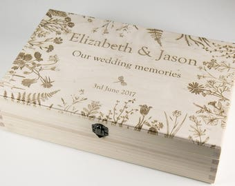 Wedding Keepsake Box, Wedding Memory Box