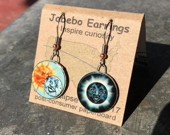 Solar Eclipse Earrings by Jabebo