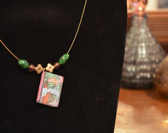 Book Necklace - Jack and the Beanstalk