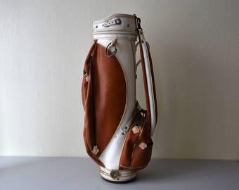 Vintage golf bag Slazenger / Strap Cart Golf Bag for club / 70s