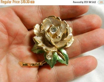 Summer Sale Graziano 1997 England's Rose Lady Diana enamel crystal Pin Brooch