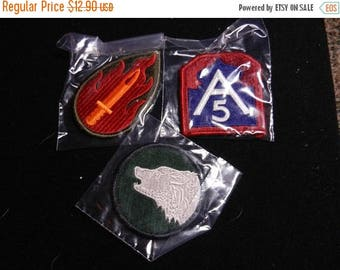 Easter Sale 3 Vintage WW2 Military Patches