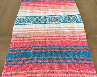 Mexican blanket table runner, falsa blanket, boho chic decor, rustic wedding, tribal party, beach or yoga mat, fiesta supplies decorations