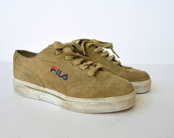 Vintage FILA Sneakers 90s Tennis Shoes Retro Shoes 90s brown suede leather Shoes Hipster Shoes Men's US 5,5 Womens uk 4,5 us 7 eur 38