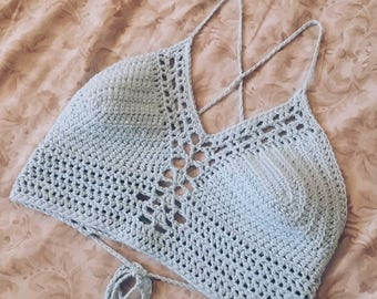 CROCHET PATTERN | Crochet Halter Top | Crochet Top | Crochet Bra | Festival Top | Crop Top | Summer Top | SmallTownCoven